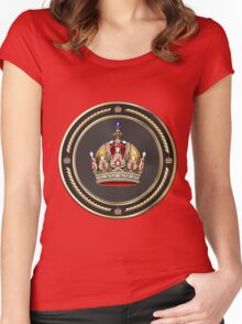 Imperial Crown of Austria over Red Velvet Women's Fitted Scoop T-Shirt