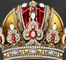 Imperial Crown of Austria over Red Velvet Sticker
