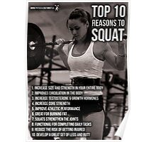 Top 10 Reasons For Women To Squat Poster