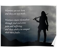 Warriors Are Not Born (Women's Motivation) Poster
