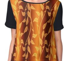 Abstract background of leaves Chiffon Top