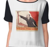 Sovjet Poster: The Ghost of Communism is in Europe (Lenin) Chiffon Top
