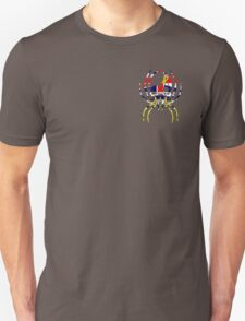 BRITISH COLUMBIA SPIDER SKULL FLAG  Unisex T-Shirt