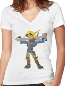 Jak 2 Renegade-Jak Women's Fitted V-Neck T-Shirt