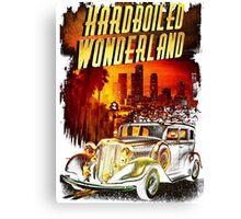 Hardboiled Wonderland Film Noir Design Canvas Print