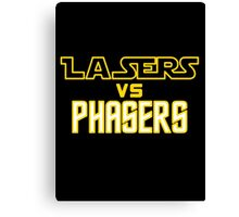 Lasers VS Phasers Canvas Print