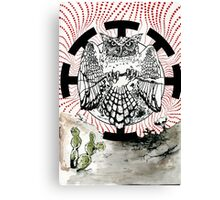 Nostradamus is a  great horned owl that lives in my neighborhood. Canvas Print