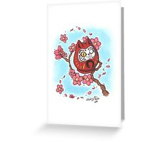 Daruma Kitty Greeting Card