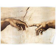 Michaelangelo - Sistine Chapel - Creation of Adam Poster