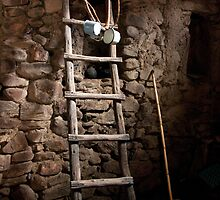 Ladder and Cups by phil decocco