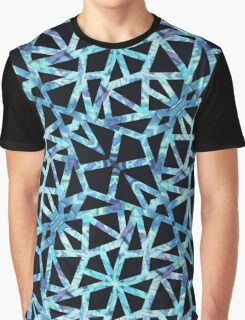 Blue Triangle Pattern Graphic T-Shirt