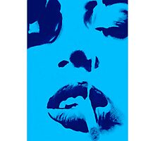 Smoke in Blue Photographic Print