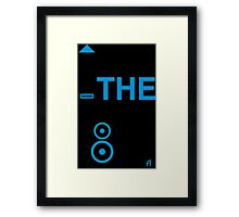 TURN THE BASS UP - Crossfader & Speaker DJ, Dark Framed Print