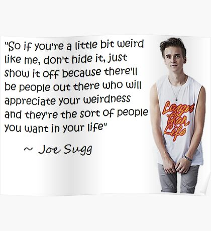 Joe Sugg - WEIRDNESS Poster