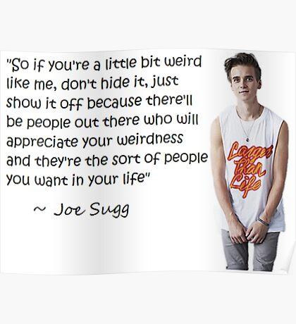 Joe Sugg - WEIRDNESS Poster
