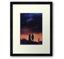 Earth meets the Sky Framed Print