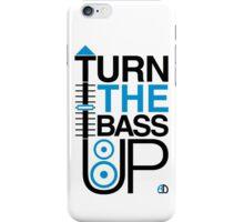 TURN THE BASS UP - Crossfader & Speaker DJ, Dark iPhone Case/Skin