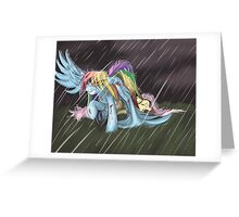 Dashie Saves Fluttershy (Blood) Greeting Card
