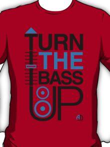 TURN THE BASS UP - Crossfader & Speaker DJ, Dark T-Shirt