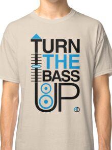 TURN THE BASS UP - Crossfader & Speaker DJ, Dark Classic T-Shirt