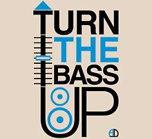 TURN THE BASS UP - Crossfader & Speaker DJ, Dark Unisex T-Shirt