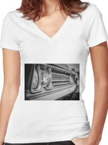 Front Grill Women's Fitted V-Neck T-Shirt