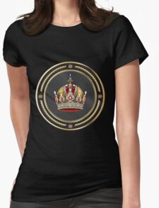 Imperial Crown of Austria over Black Velvet Womens Fitted T-Shirt