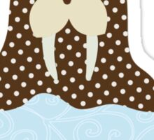 Walrus On Ice Sticker