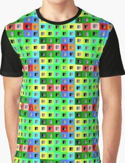 8bit Rubiks Bold Block Graphic T-Shirt