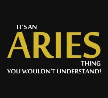 It's An ARIES Thing, You Wouldn't Understand! by 2E1K