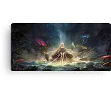 Janna in the jungle Canvas Print