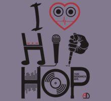 I Love Hip Hop - Music DJ Design - Dark Text Kids Clothes