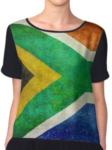 National flag of the Republic of South Africa Chiffon Top