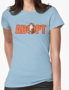 ADOPT Womens Fitted T-Shirt