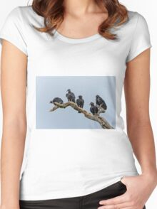 Black Vultures Women's Fitted Scoop T-Shirt