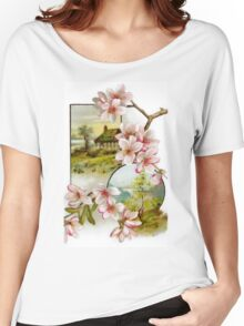 Victorian Pink Floral Women's Relaxed Fit T-Shirt