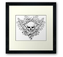Awesomeness Skull Framed Print