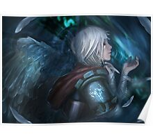 Riven - Warrior with white wings Poster
