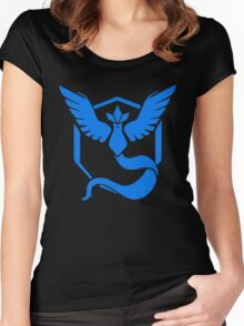 Pokemon Go   Team Mystic   Black Background   HUGE   New!   High Quality! Women's Fitted Scoop T-Shirt
