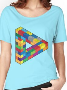 Play with Me: Lego Penrose Toy Triangle Impossible Object Illusion Women's Relaxed Fit T-Shirt