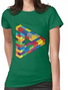 Play with Me: Lego Penrose Toy Triangle Impossible Object Illusion Womens Fitted T-Shirt