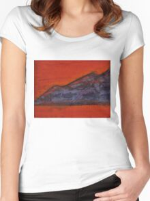 Taosesque original painting Women's Fitted Scoop T-Shirt