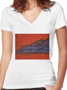 Taosesque original painting Women's Fitted V-Neck T-Shirt