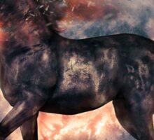 Fire Elemental Unicorn Sticker