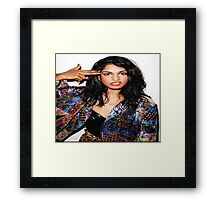 Rapper M.I.A. Framed Print
