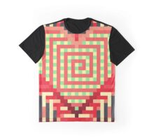 8bit Hotblooded Heart Abstract Graphic T-Shirt
