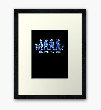 Jak and Daxter Saga - Blue Sketch Framed Print