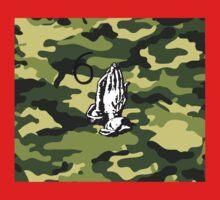 DRAKE CAMMO (6 God Praying Hands) Kids Tee