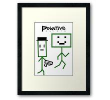 Primitive Shirts - Cop and Robber Framed Print
