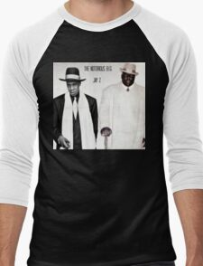 Jay-Z & Biggie Smalls Stage Performing 1990s Rap Men's Baseball ¾ T-Shirt